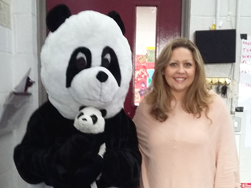 Ping and Po-Li with author Audrey Moore visit local schools.