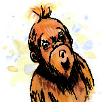 Orangutan from Ping & Po-Li: Rainforest Rescue by Irish author Audrey Moore