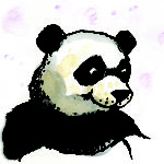 Panda from Ping & Po-Li: Rainforest Rescue by Irish author Audrey Moore