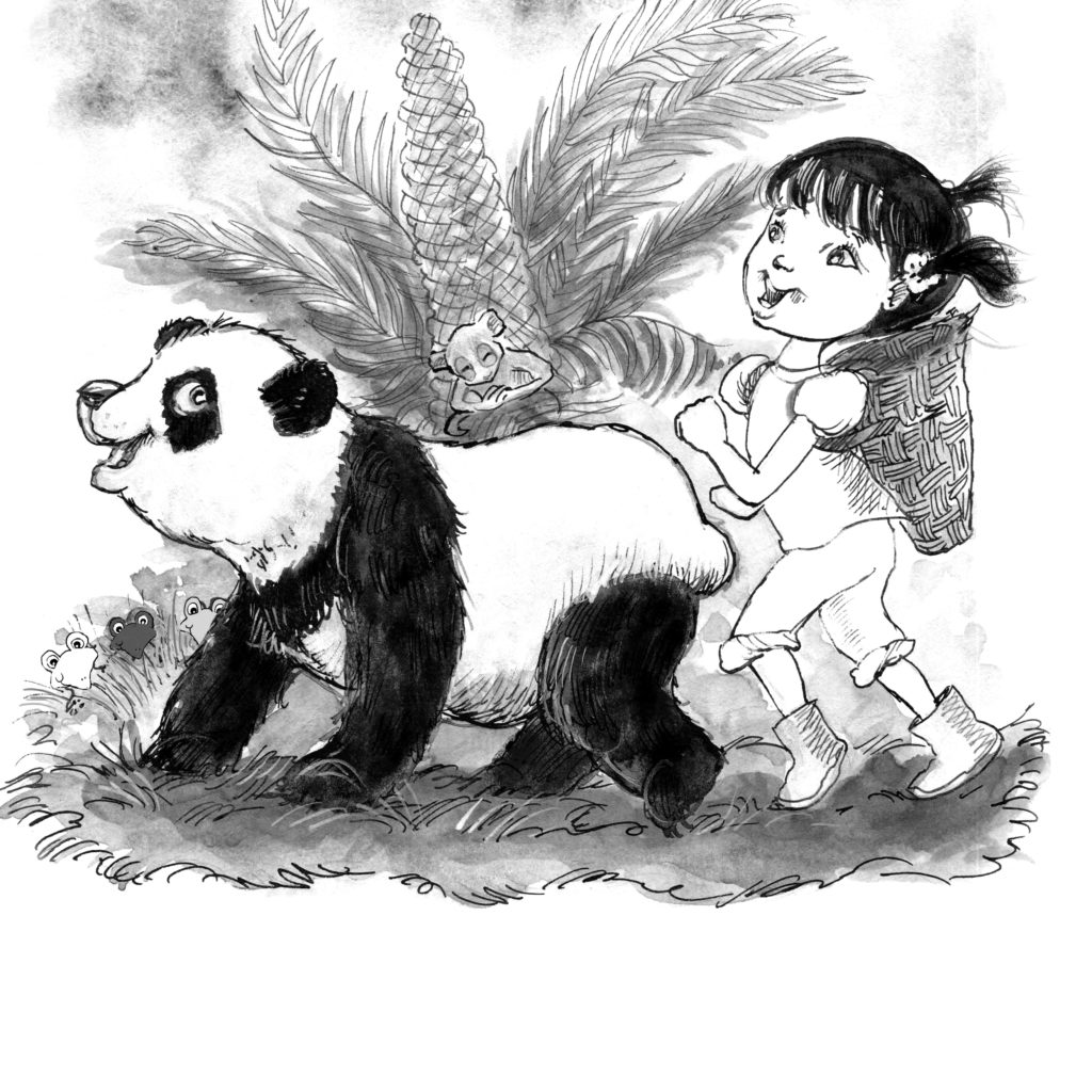 Ping & Po-Li Rainforest Rescue colouring page