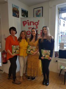 Audrey Moore attending book launch of Ping & Po-Li